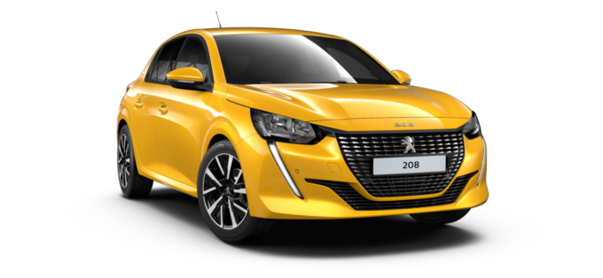 Peugeot All New 208 Faro Yellow