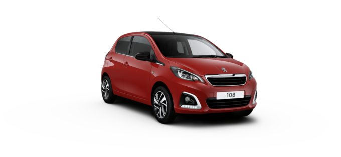 Peugeot 108 Hatchback Laser Red